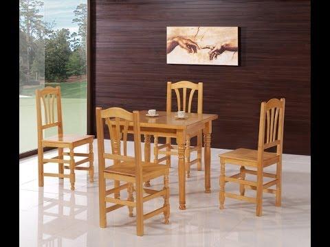 Mesas, sillas, taburetes y literas rusticas de madera maciza ...