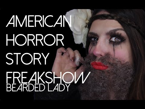 American Horror Story Freak Show Bearded Lady Halloween Makeup Tutorial 2014