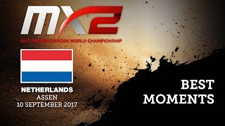 MX2 Best Moments - MXGP of Netherlands 2017 - motocross
