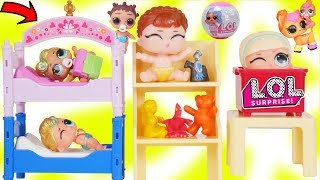 Lil Luxe Play Dress up in New Princess Room with LOL Surprise Dolls Boy Punk Boi