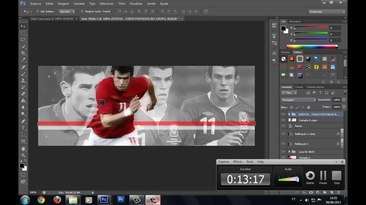 Como criar Banner / Capa para Youtube no Photoshop