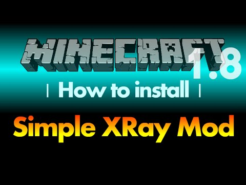 How to install XRay Mod 1.8 (Simple XRay) for Minecraft 1.8 (with download link)