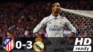 Atletico Madrid vs Real Madrid 0-3 All Goals and Highlights with English Commentary 2016-17 HD 720p