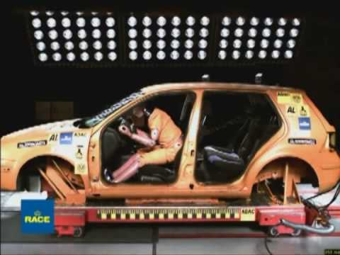 Importancia y efectividad del cinturón de seguridad incluso a bajas velocidades. RACE
