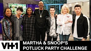 Joe Jonas Hung Out w/ Snoop Dogg At the Studio | Martha & Snoop's Potluck Party Challenge