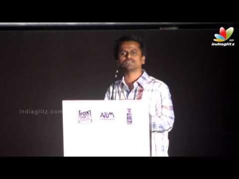AR Murugadoss speaks about Raja Rani and Director Atlee   Audio Launch   Arya. Nayanthara