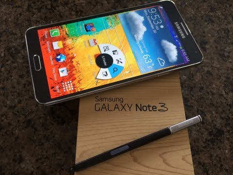 Samsung Galaxy Note 3 Unboxing. Demo and Comparisons