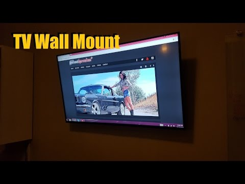 Wall Mount TV / Install a Flat Panel / Screen HDTV (Home Theatre Installation Video)