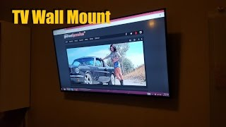 How to Wall Mount / Install a Flat Panel / Screen HDTV (Home Theater Installation Video)