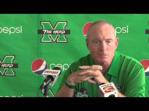 Marshall University: Coach Doc Holliday Press conference 9-2-2014