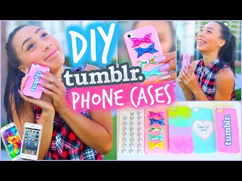 DIY 5 Easy Phone Cases (Studded. Ombre & More)   Tumblr Inspired