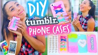 DIY 5 Easy Phone Cases (Studded, Ombre & More)   Tumblr Inspired   MyLifeAsEva