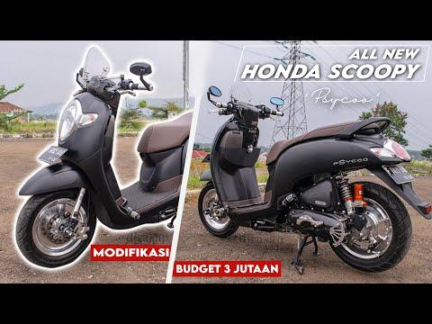 "Modifikasi Honda Scoopy 2017 ""Psycoo"" Stylish Mate Black With Silver Chrome Accent."