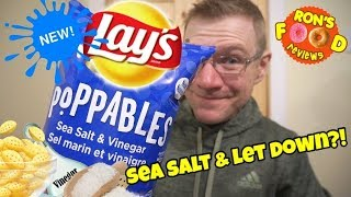 NEW LAYS POPPABLES!! SEA SALT AND VINEGAR!! TASTE AND REVIEW!!