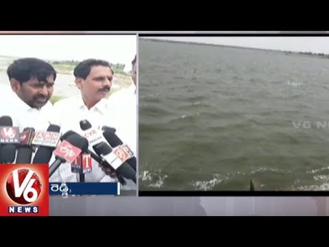 Minister Jagadish Reddy Releases Water From Dindi Project | Nalgonda | V6 News