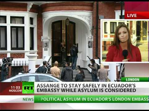 Assange seeks asylum in Ecuador embassy as extradition looms