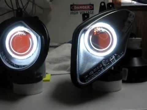 Bi Xenon Headlights >> 10-13 BMW S1000RR #4 55w HID / Bi-Xenon Projector Headlight Retro-Fit by Sick HIDs - YouTube
