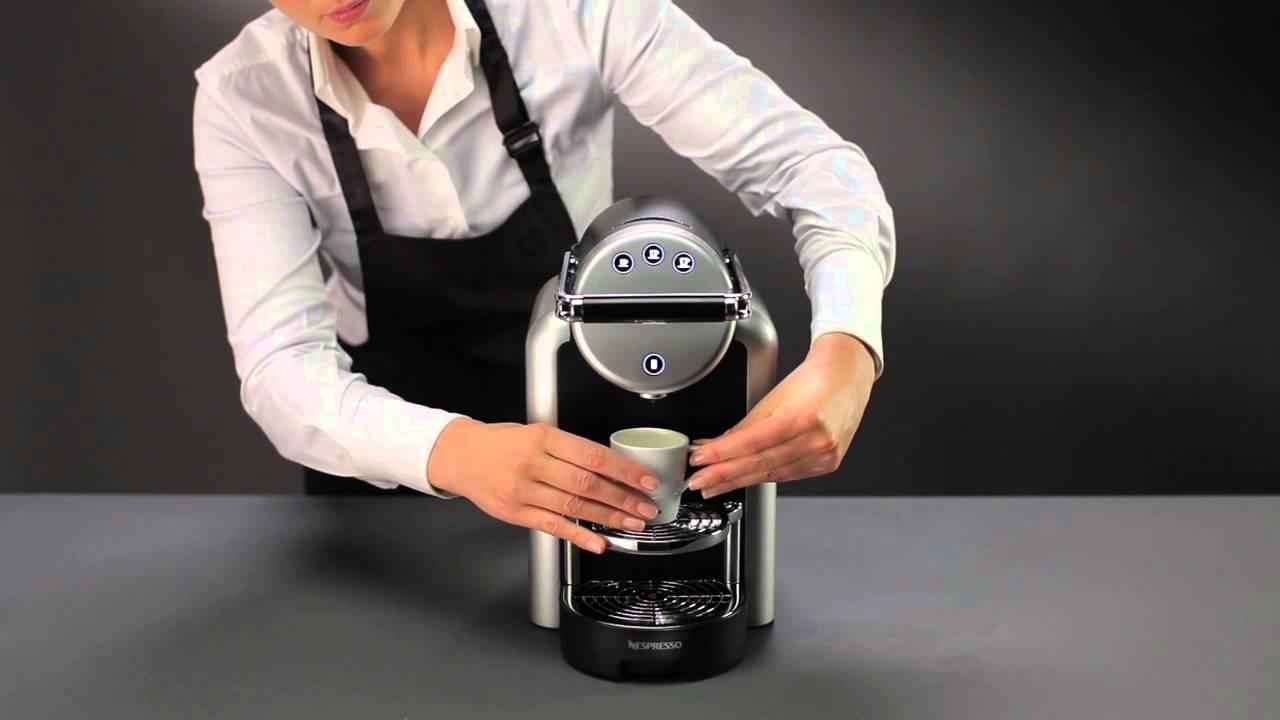Nespresso Zenius Directions For Use Youtube