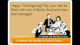 Los mensajes más divertidos de Acción de Gracias - Thanksgiving Day