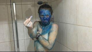 PERMANENT BLUE PAINT DYE PRANK!