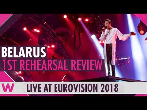 """Belarus First Rehearsal: Alekseev """"Forever""""  @ Eurovision 2018 (Review) 