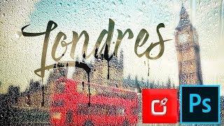 PHOTOSHOP TUTORIAL, como hacer efecto de texto en ventana lluviosa