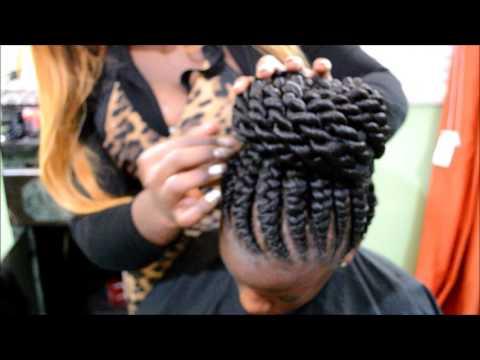 Ghana Braids with Twist bun by Omeece Culmer