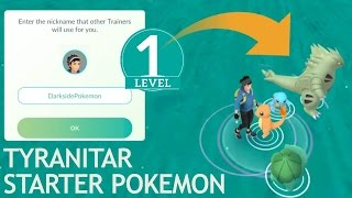 Level 1 account new starter pokemon go! catching tyranitar and dragonite!