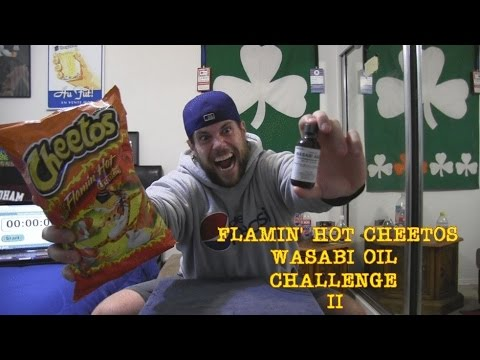 L.A. BEAST vs Flamin' Hot Cheetos Wasabi Oil Challenge II (vomit alert)