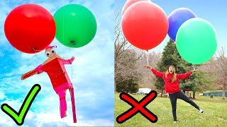 WILL THIS WORK?? (FLOATING WITH GIANT BALLOONS)