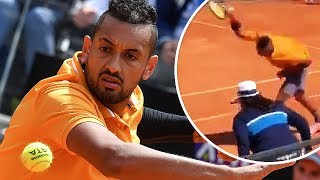 Nick Kyrgios LOSES IT, THROWS CHAIR At The Italian Open!
