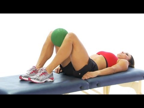 Groin / inner thigh exercises - isometric ball squeeze