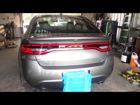 2013 Dodge Dart GT 2.4 Exhaust Removal