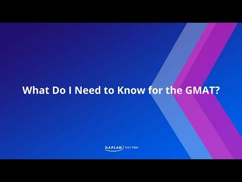 What is on the GMAT exam?