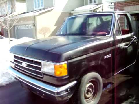 1989 Ford F150 300 Straight 6 Cold Start And Walkaround