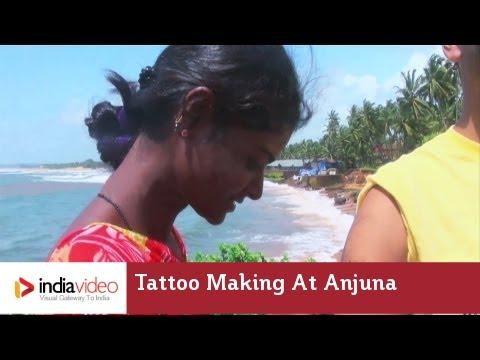 Tattoo Making at Anjuna beach, Goa