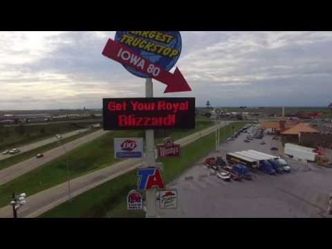 I80 Worlds Largest Truck Stop (Drone)