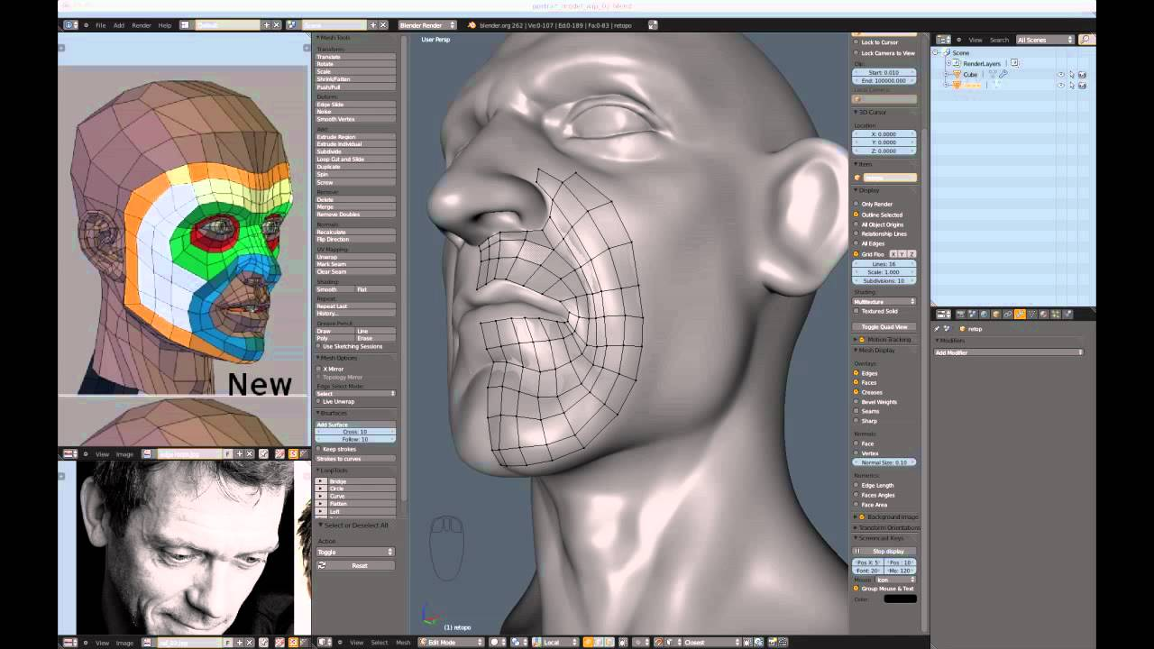 Realistic Character Modeling Blender : Creating a realistic head in blender part youtube