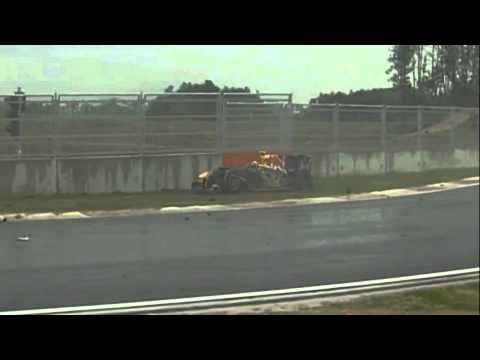 Formula1 2010 Korean Gp Webber Rosberg Crash