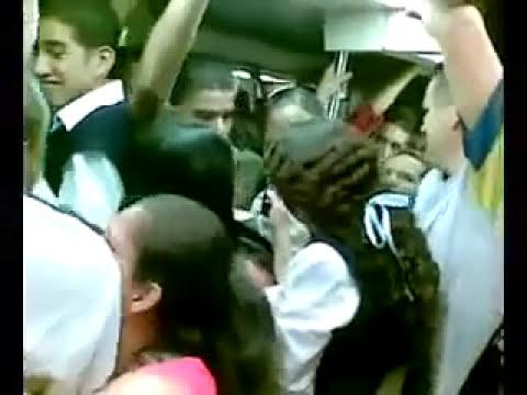 Pelea en el metro