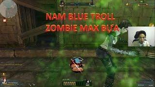 Truy Kích   Nam Blue Nhặt Súng Đua TOP vs Troll Zombie ✔