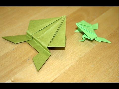 Origami comment faire une grenouille sauteuse en papier pli vid o ducative videolike - Comment faire une grenouille en papier ...