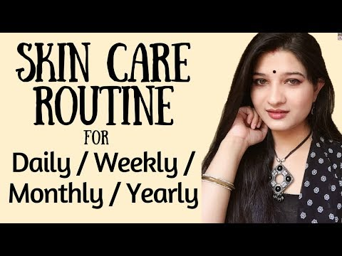 Daily/Weekly/Monthly/yearly Skin Care Routine tips | Tips for glowing skin naturally | AVNI