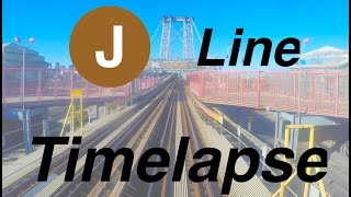 ⁴ᴷ NYC Subway Timelapse - A Round Trip on the J Line