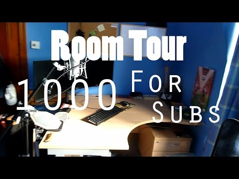 EPIC ROOM TOUR EDITING YOUTUBE GAMING SETUP 1000 SUBSCRIBERS 2014