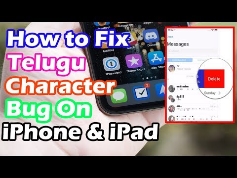 How to Fix the Telugu Character Bug on iPhone & iPad | Indian Character Bug on iPhone & iPad