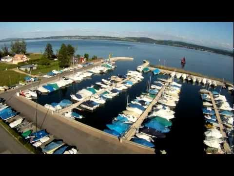 Hexakopter flight / Port on Lake Murten