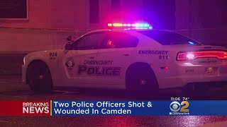 2 Cops Shot, Wounded In Camden; Gunman On The Run