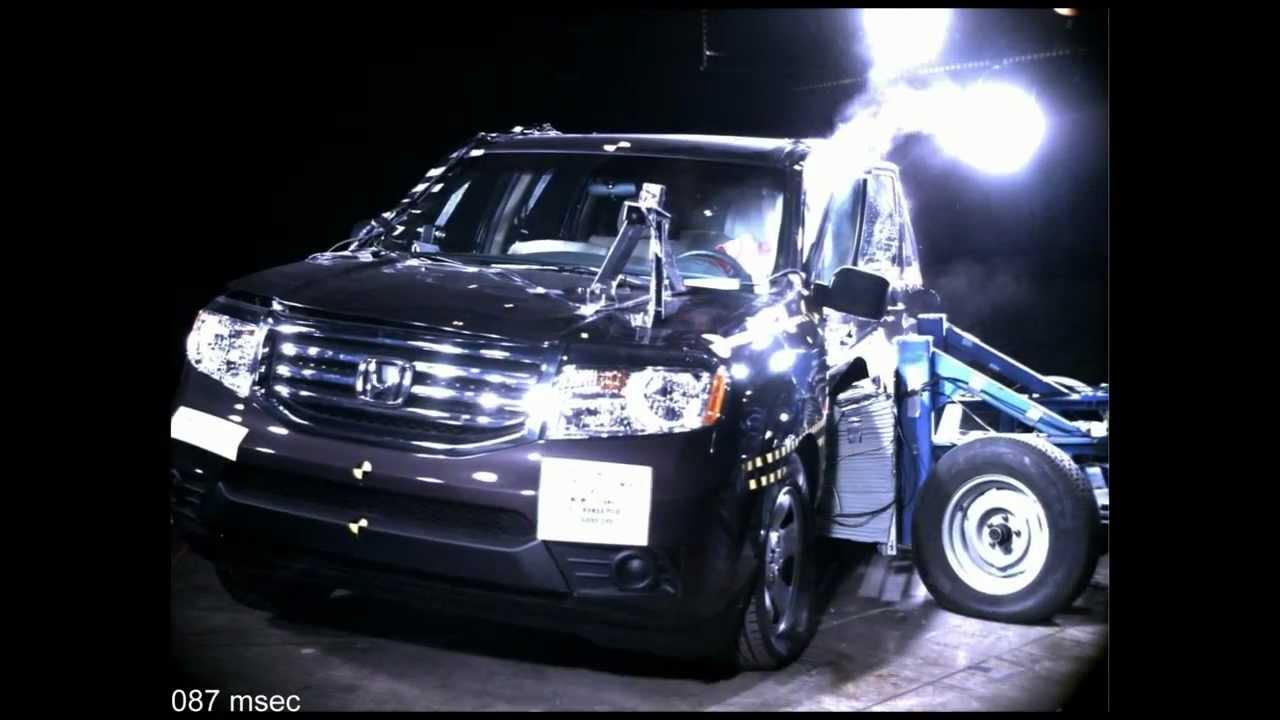 honda pilot side crash test high speed camera  nhtsa full length hd youtube