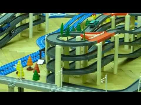 プラレール Tomy/Plarail Shinkansen Vol. 3: 12 trains on the double tower [HD].